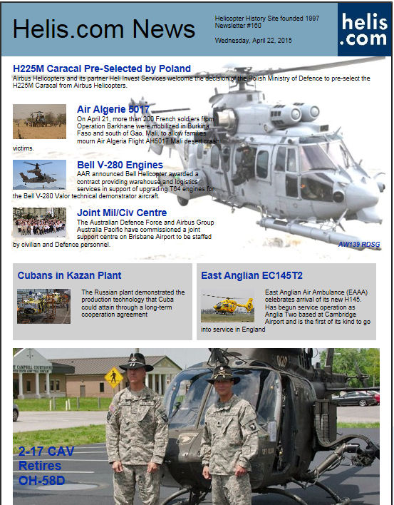 Helicopter News April 22, 2015 by Helis.com