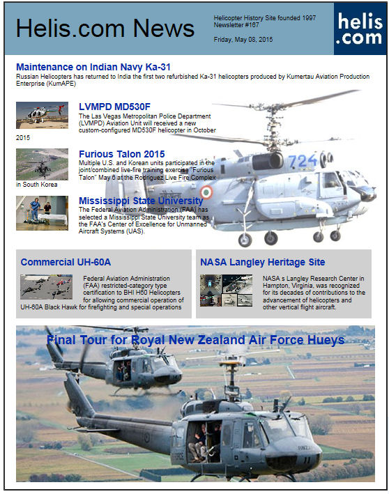 Helicopter News May 08, 2015 by Helis.com