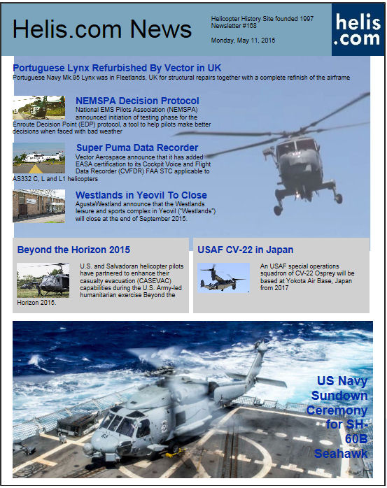Helicopter News May 11, 2015 by Helis.com