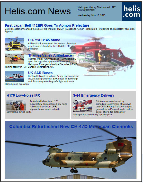Helicopter News May 13, 2015 by Helis.com