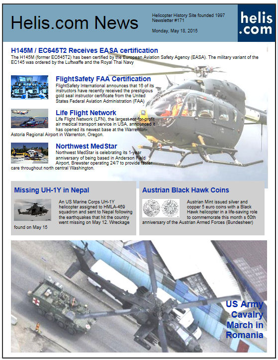 Helicopter News May 18, 2015 by Helis.com