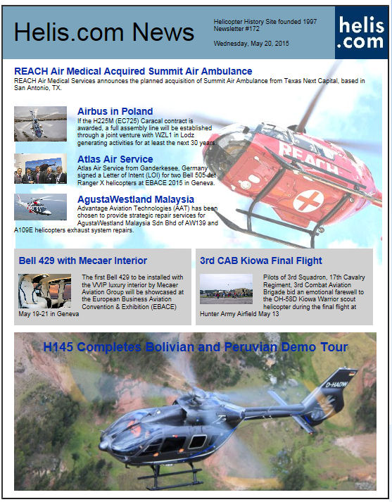 Helicopter News May 20, 2015 by Helis.com