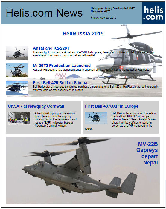 Helicopter News May 22, 2015 by Helis.com