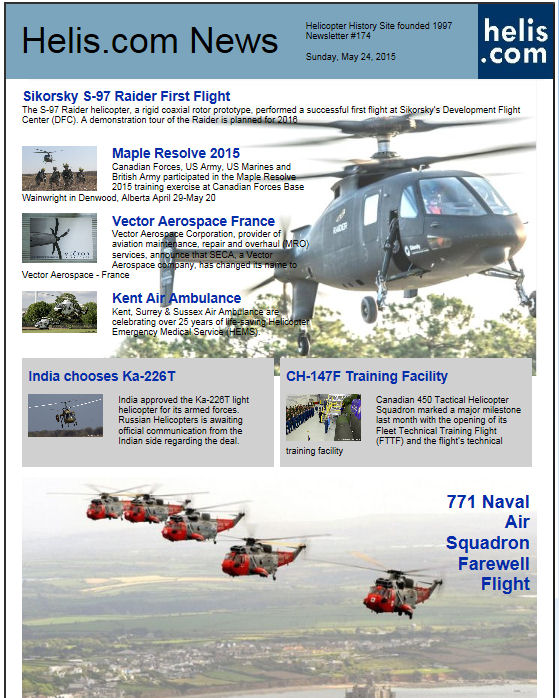 Helicopter News May 24, 2015 by Helis.com