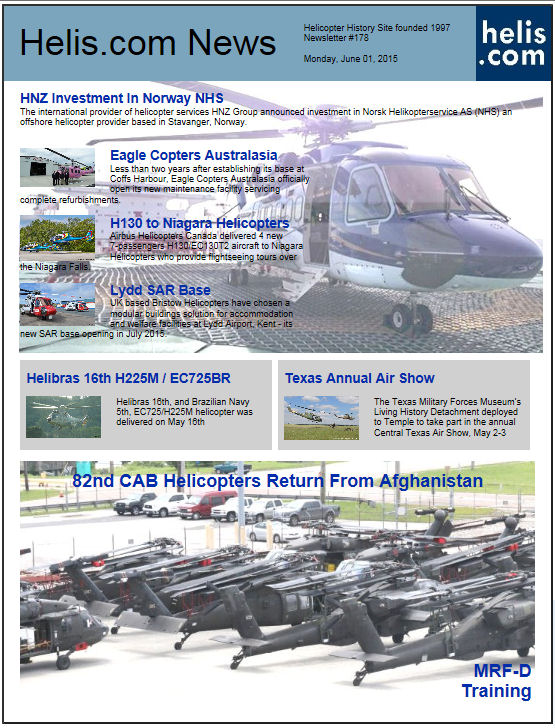 Helicopter News June 01, 2015 by Helis.com