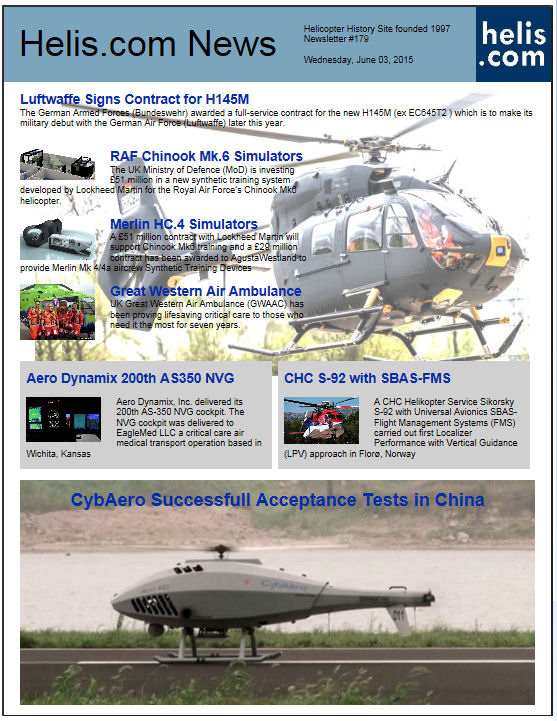 Helicopter News June 03, 2015 by Helis.com