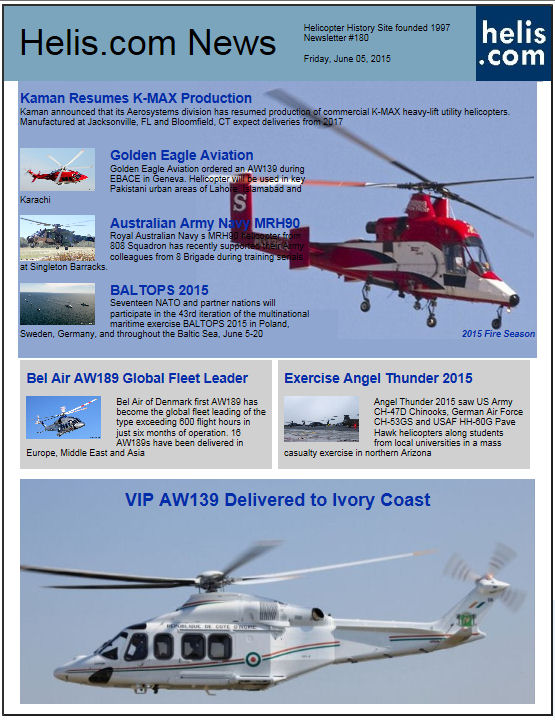 Helicopter News June 05, 2015 by Helis.com