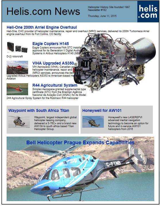Helicopter News June 11, 2015 by Helis.com
