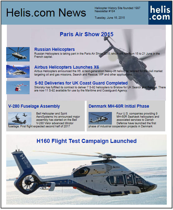 Helicopter News June 16, 2015 by Helis.com