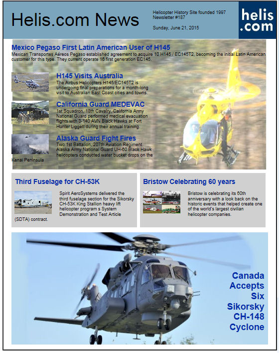 Helicopter News June 21, 2015 by Helis.com