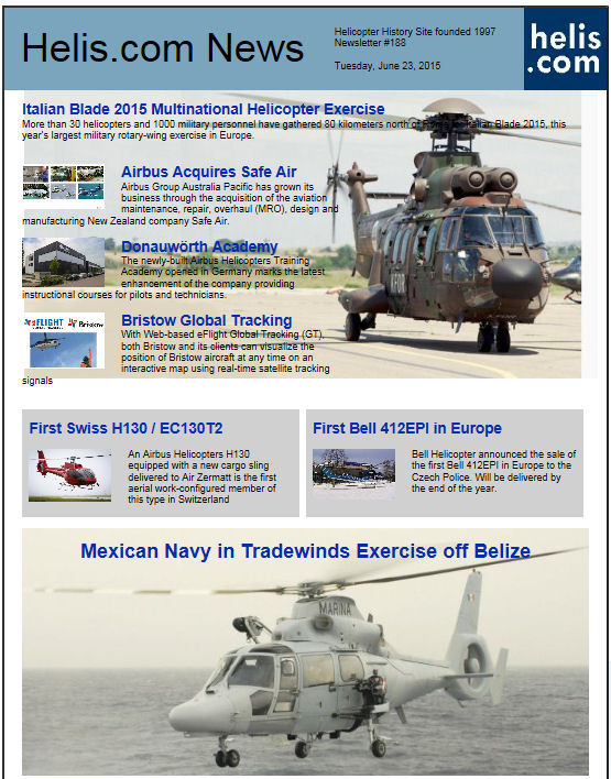 Helicopter News June 23, 2015 by Helis.com