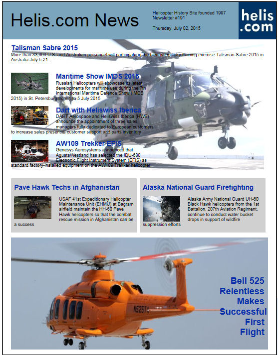 Helicopter News July 02, 2015 by Helis.com