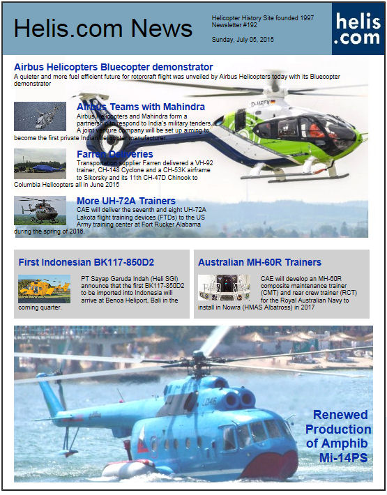 Helicopter News July 05, 2015 by Helis.com