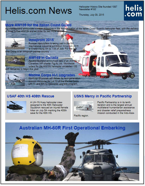 Helicopter News July 09, 2015 by Helis.com