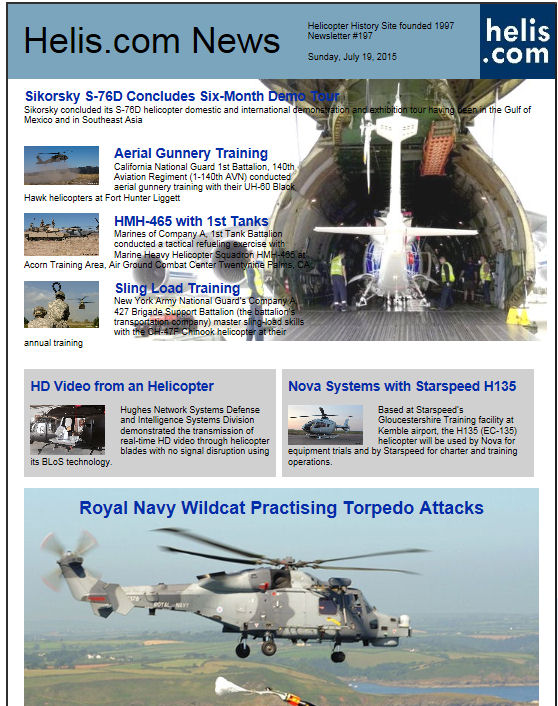 Helicopter News July 19, 2015 by Helis.com