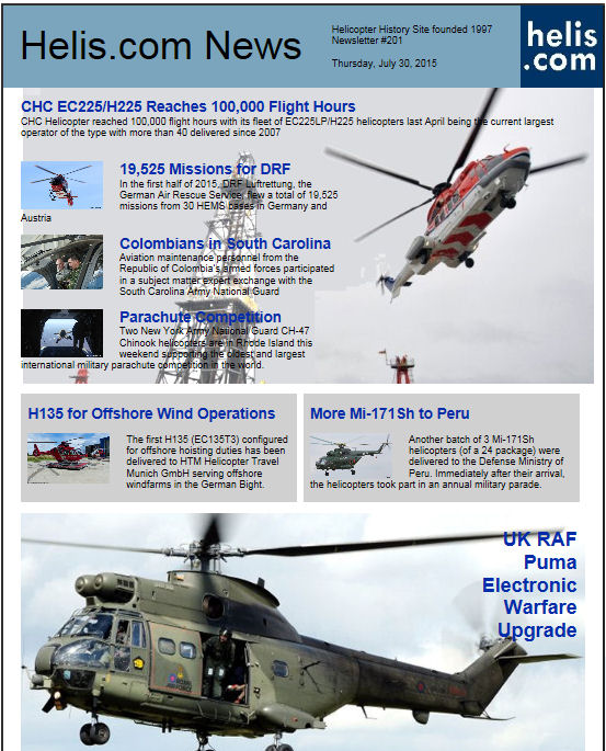 Helicopter News July 30, 2015 by Helis.com