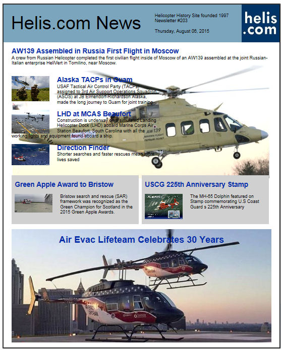 Helicopter News August 06, 2015 by Helis.com