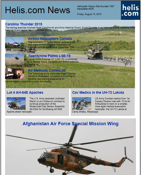 Helicopter News August 14, 2015 by Helis.com