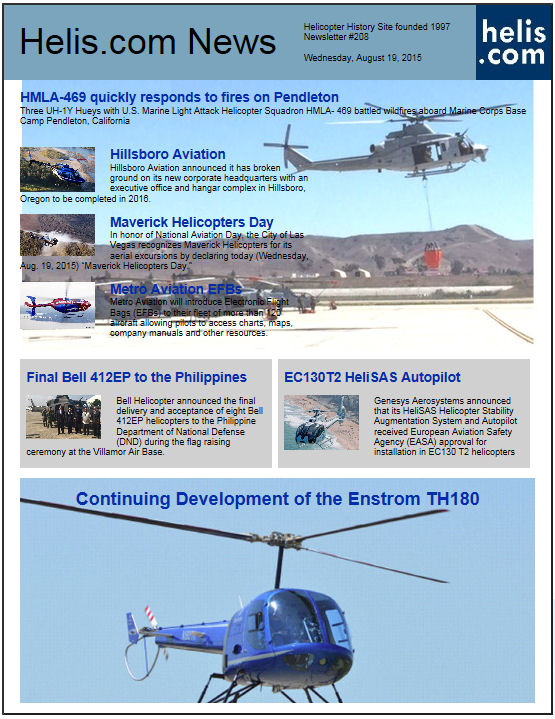 Helicopter News August 19, 2015 by Helis.com