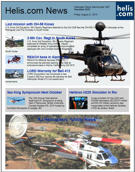 Helicopter News August 21, 2015 by Helis.com