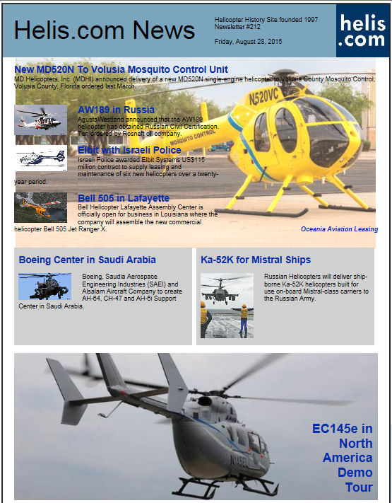 Helicopter News August 28, 2015 by Helis.com