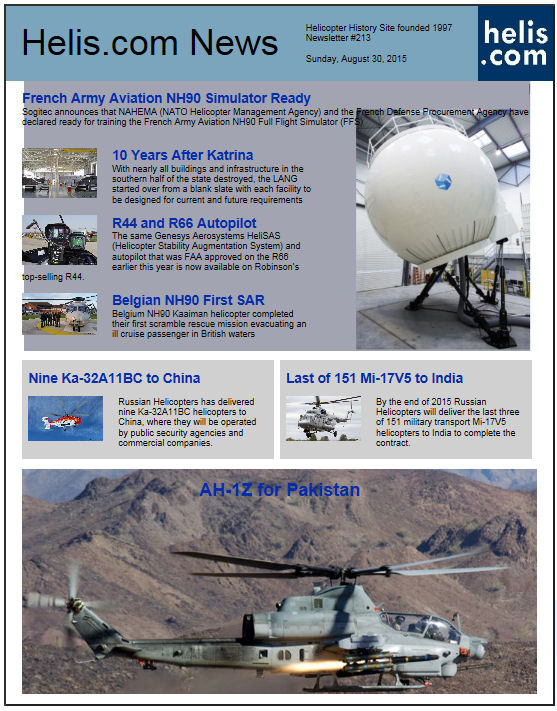 Helicopter News August 30, 2015 by Helis.com