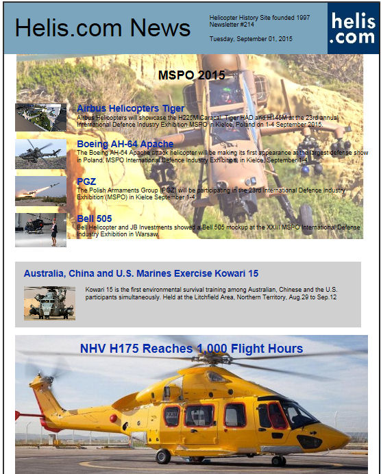Helicopter News September 01, 2015 by Helis.com
