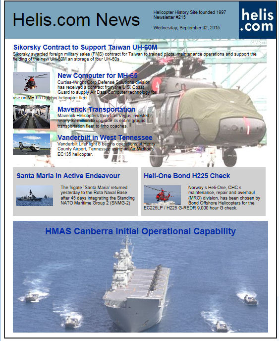 Helicopter News September 02, 2015 by Helis.com