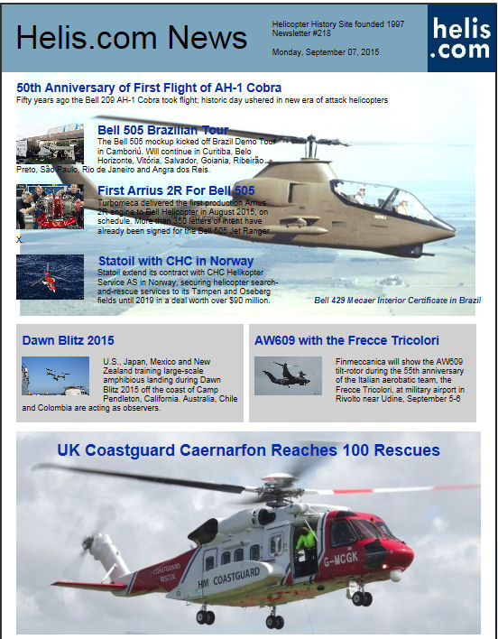 Helicopter News September 07, 2015 by Helis.com