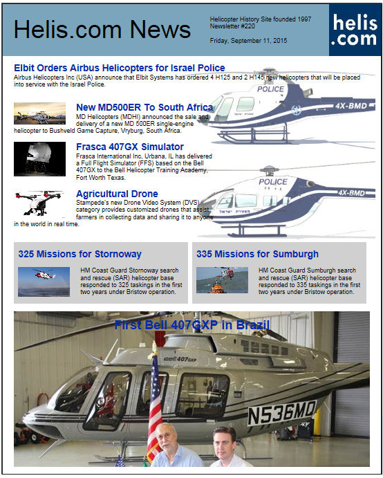 Helicopter News September 11, 2015 by Helis.com
