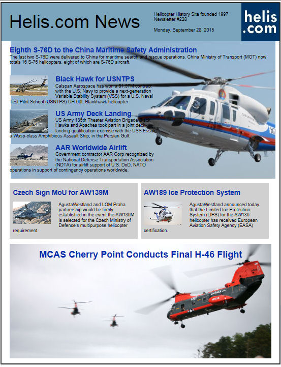 Helicopter News September 28, 2015 by Helis.com