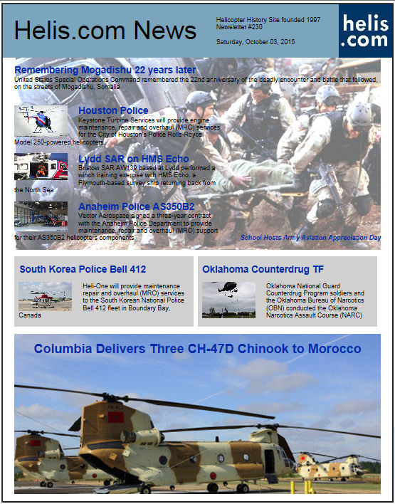 Helicopter News October 03, 2015 by Helis.com