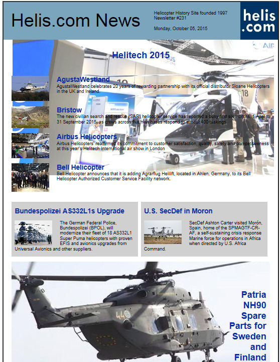 Helicopter News October 05, 2015 by Helis.com