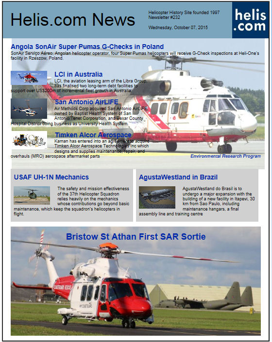 Helicopter News October 07, 2015 by Helis.com