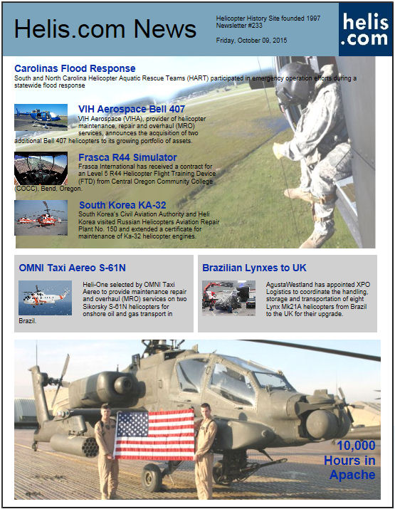 Helicopter News October 09, 2015 by Helis.com
