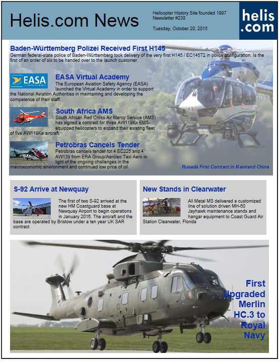 Helicopter News October 20, 2015 by Helis.com