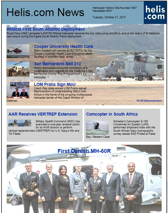 Helicopter News October 27, 2015 by Helis.com
