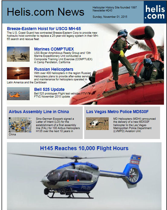 Helicopter News November 01, 2015 by Helis.com