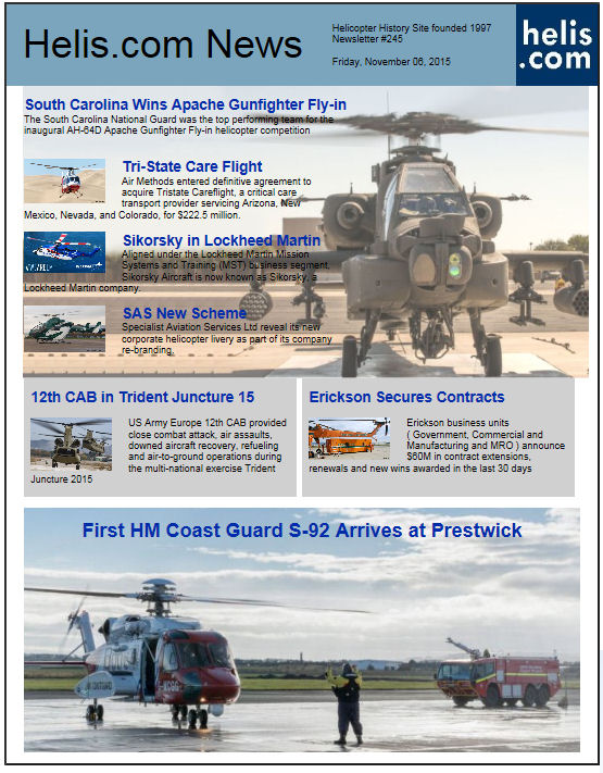 Helicopter News November 06, 2015 by Helis.com