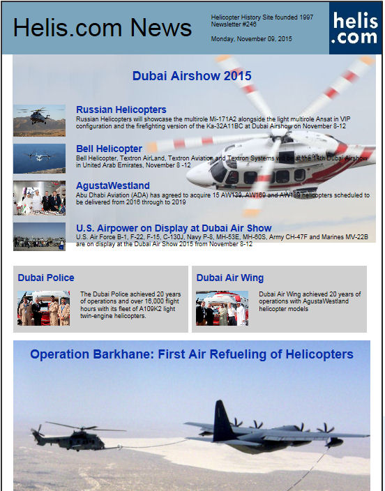 Helicopter News November 09, 2015 by Helis.com
