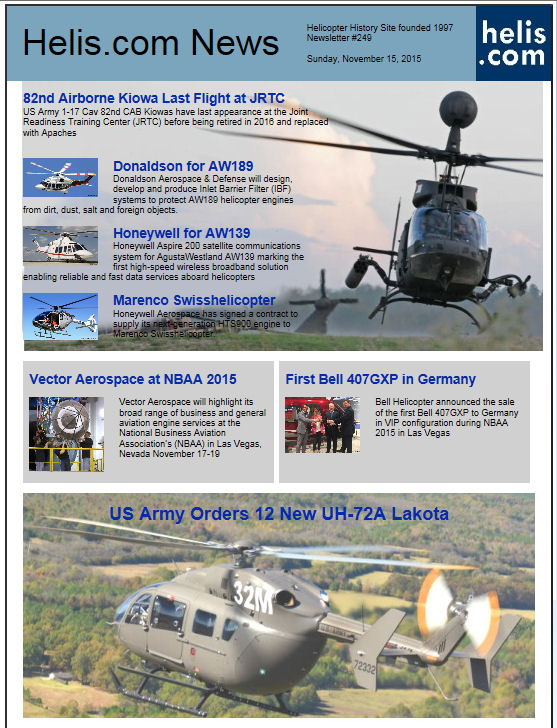 Helicopter News November 15, 2015 by Helis.com