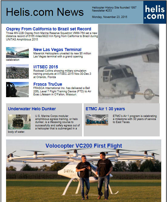 Helicopter News November 23, 2015 by Helis.com