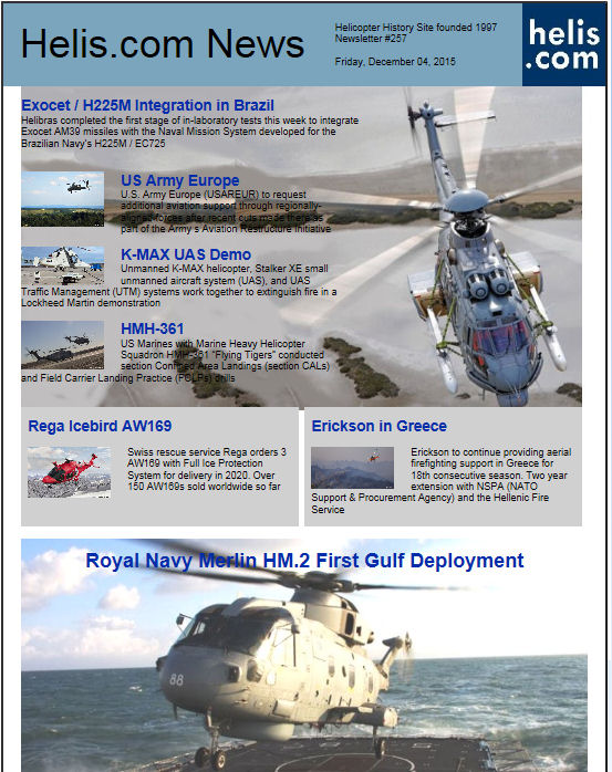 Helicopter News December 04, 2015 by Helis.com