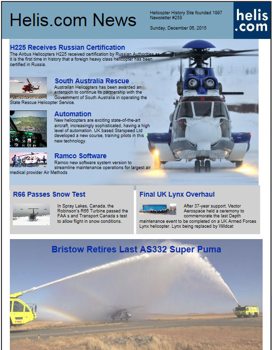 Helicopter News December 06, 2015 by Helis.com