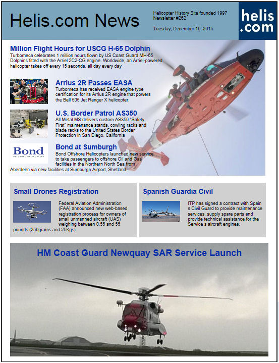Helicopter News December 15, 2015 by Helis.com