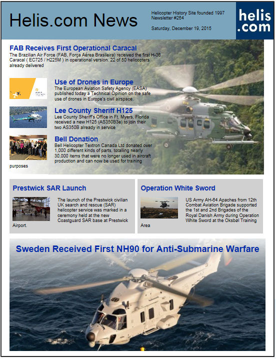 Helicopter News December 19, 2015 by Helis.com