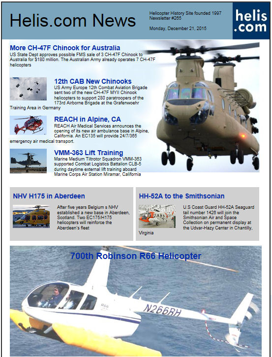 Helicopter News December 21, 2015 by Helis.com