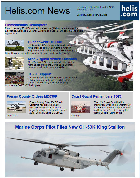 Helicopter News December 26, 2015 by Helis.com
