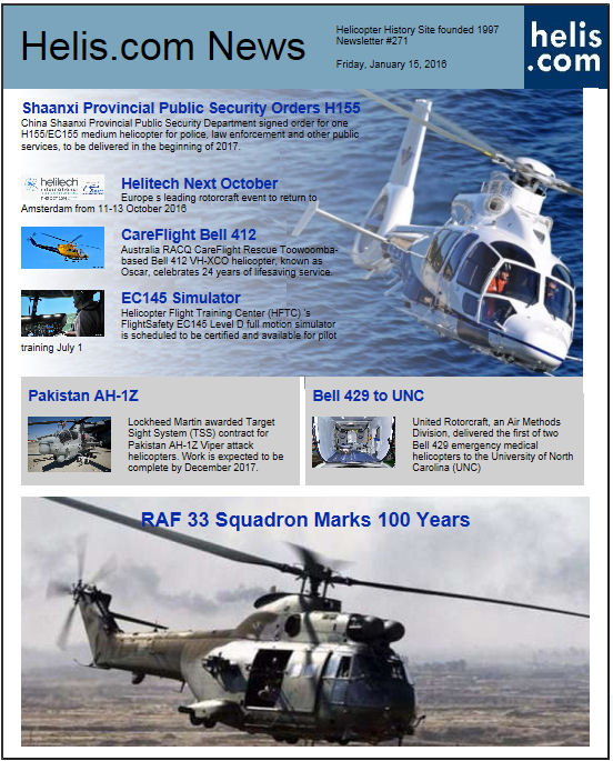 Helicopter News January 15, 2016 by Helis.com