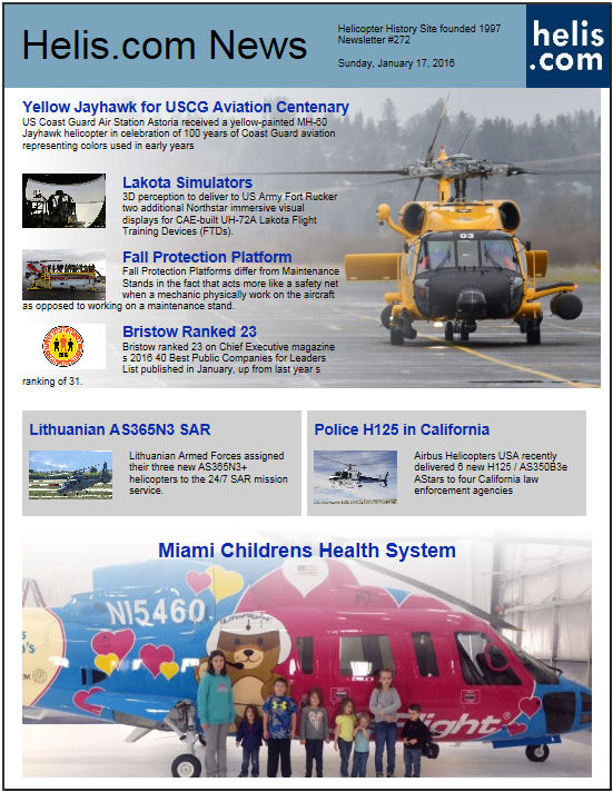 Helicopter News January 17, 2016 by Helis.com